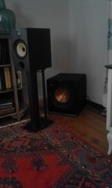 B&W 685 S2 bookself speakers with stands in Ramstein, Germany