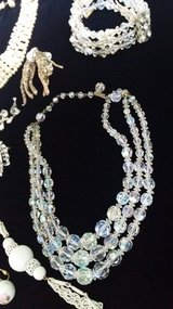 Vintage 3 strand crystal necklace in Ramstein, Germany