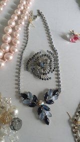 Vintage blue crystal necklace or broach in Ramstein, Germany