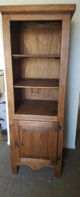 Pine wood armoire and 2 matching shelves in Fort Drum, New York