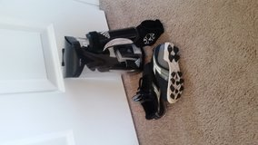 Toddler cleats and shin guards in Fort Drum, New York