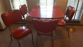 Vintage chrome dinette set in Altus, Oklahoma