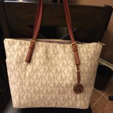 MK Michael Kors Vanilla, Black Tote / Handbag / Purse NWT in Houston, Texas