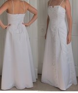 Size Medium White Formal Ball Gown with Sash in Camp Pendleton, California