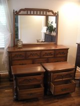 Triple dresser with matching side tables in Livingston, Texas