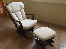 Sleigh Gliding Chair & Ottoman - ON HOLD in Davis-Monthan AFB, Arizona
