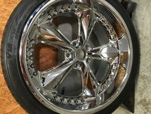 Rims & tires - set of 4 in Tyndall AFB, Florida
