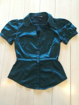 H&M deep teal blue button up (4) in Okinawa, Japan