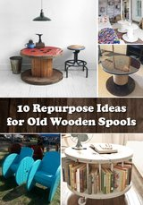 Wooden spools for DIY projects in Temecula, California