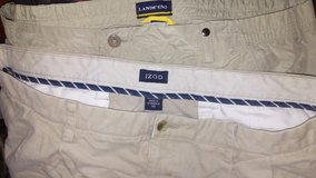 Mens size 42 lands end and izod khaki shorts in Byron, Georgia