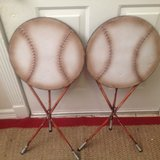 Vintage Pair Metal Round Base Ball Folding Tables in Kingwood, Texas