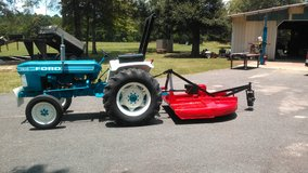 Ford tractor and bushhog in DeRidder, Louisiana