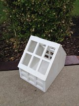 Shabby white rustic wooden house planter for indoor, home, office, garden, porch, patio, etc in Glendale Heights, Illinois
