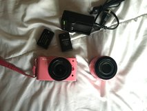 Nikon 1 J1 Camera with 10-30mm & 30-110mm Lenses- Pink in Naperville, Illinois