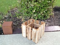Old rustic planter made from vintage / antique wood in Aurora, Illinois