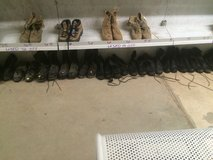 Black military boots assortment of sizes in Leesville, Louisiana