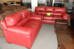 Austin red couch and love seat in Elizabethtown, Kentucky