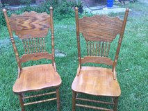 High  back Wood  dining chairs in Kingwood, Texas