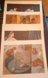 Vintage famous nude paintings - Portfolio of 8 large full-color reproductions in Naperville, Illinois