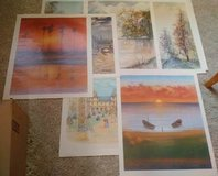 Vintage landscape art prints - Portfolio of 7 full-color, over-sized poster prints on paper in Naperville, Illinois