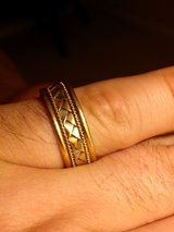 18k gold braided men's wedding ring in Conroe, Texas