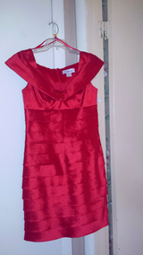 """""""Jessica Howard"""" Dark Red Flexible Sain Stretch Dress - New tags attached in Fort Bragg, North Carolina"""