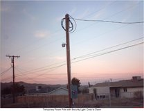 Temporary Power Pole in Yucca Valley, California