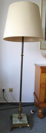 Antique Brass stand with  Marble Base Lamp in Ramstein, Germany