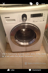 Samsung Washer & Dryer (sold as a set) in Heidelberg, GE