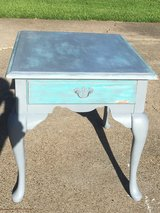 Chalk Painted Wooden End Table in Baytown, Texas