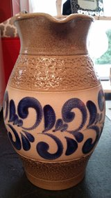 10 1/2 inch tall signed salt painted pitcher in Ramstein, Germany