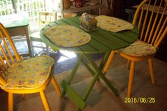 Small folding dining table and 2 chairs in Goldsboro, North Carolina