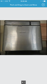 Cuisinart bread maker $250 with all extras and cooking book in Hill AFB, UT