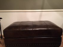 Leather ottoman in The Woodlands, Texas