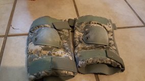 Issued elbow pads in Fort Irwin, California