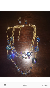 Swarovski elements chunky necklace set with earrings was $130 in Hill AFB, UT