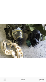 2 gas masks, pouch, gloves etc in Hill AFB, UT