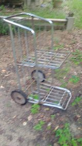 Vintage carry-out cart very handy in Coldspring, Texas