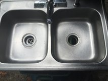 Kitchen sink with Moen faucet in Houston, Texas