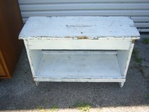 Antique wooden bench in Camp Lejeune, North Carolina