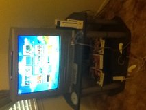 Tv with built in DVD/Vhs player. Wii with 6 games plus all accessories, 3 controllers in Cleveland, Texas