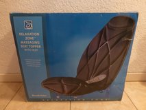 Brookstone Relaxation Zone Massaging Seat Topper with heat in Stuttgart, GE