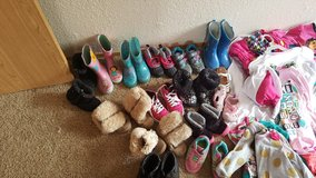 Little girls shoes and rain boots in Tacoma, Washington