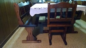 Solid Wood 5ft x 42in Dining Set in Cleveland, Texas