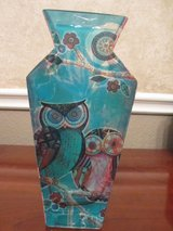 Hand Painted Owl Vase in Houston, Texas