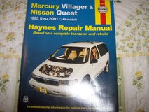 Haynes Mercury Villager & Nissan Quest repair manual in Travis AFB, California