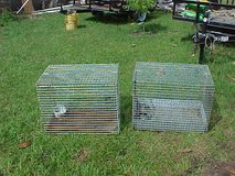 Two wire cages in Beaufort, South Carolina