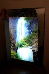 Backlit Picture Frame: Waterfall in Okinawa, Japan