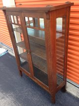 Mission  Oak China Closet Cabinet in Cherry Point, North Carolina