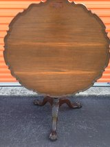 Mahogany KINDEL Winterthur Philadelphia Mahogany Tilt Top Table. in Camp Lejeune, North Carolina
